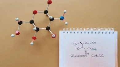 Glucosamine is an amino sugar, dietary supplement molecule; used in treatment of osteoarthritis