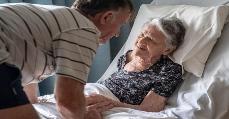 Dementia sufferer void of recognition when visited by her own son at Regis Aged Care facility in Kirwan