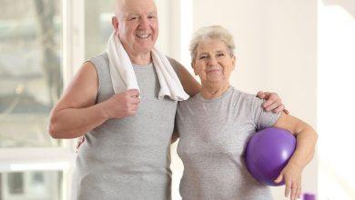 Elderly patients in modern rehabilitation center